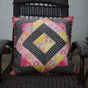 On Point Frames Quilted Pillow