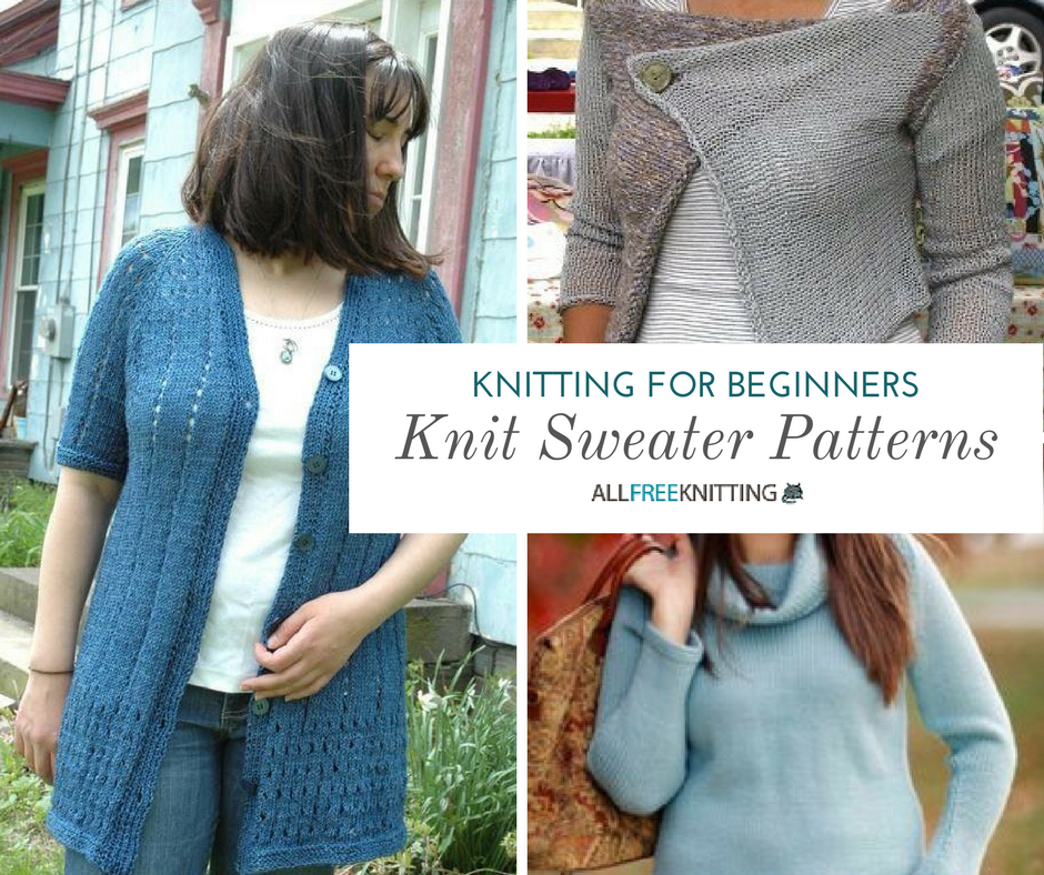 Knitting Jumpers For Beginners : Knitting for beginners speedy sweaters
