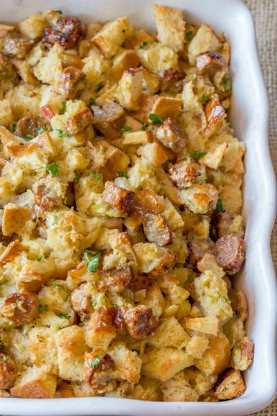 Easy Apple and Sausage Stuffing