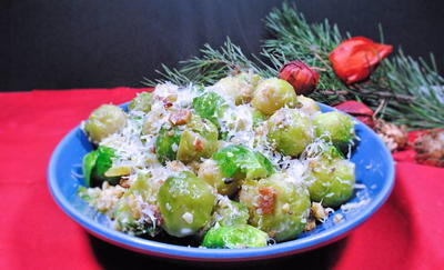 Brussel Sprouts With Parmesan And Walnuts