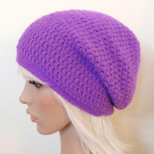 Purple Crochet Beanie Pattern