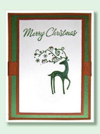 Simply Festive Stamped Christmas Card