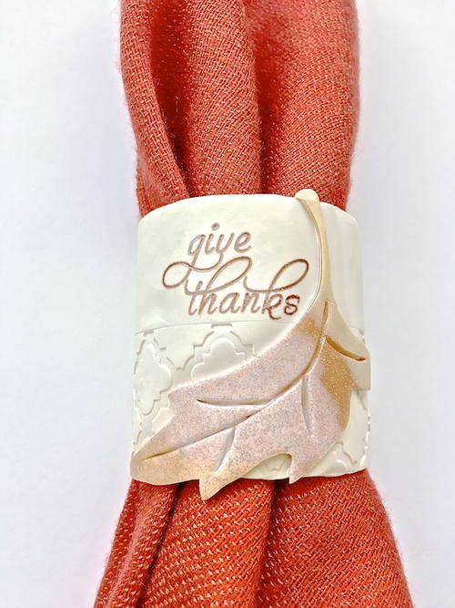 Elegant Give Thanks Napkin Ring