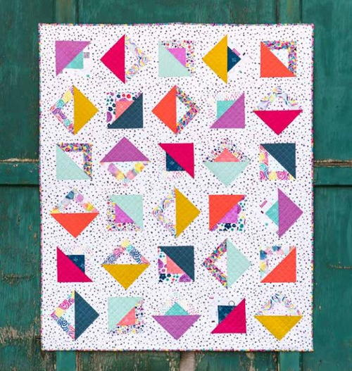 Chromatic Squares Quilt Pattern