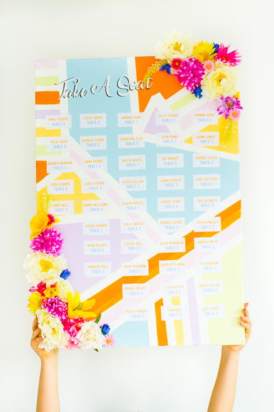 Colorful Geometric Seating Plan