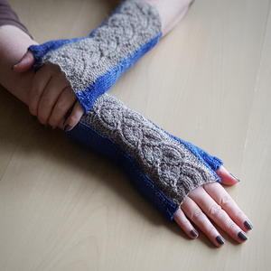 Jeans and Old Lace Knit Fingerless Gloves