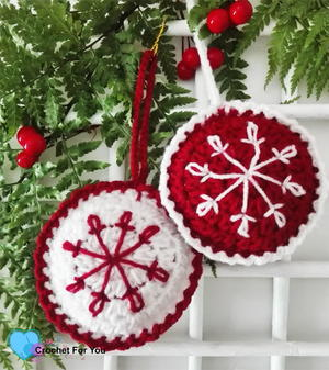 Christmas Crochet Baubles