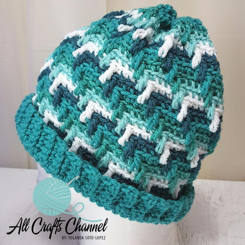 True Blue Crochet Hat