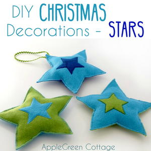 Felt Stars DIY Christmas Decorations