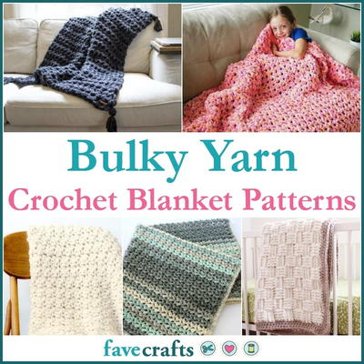 19 Bulky Yarn Crochet Blanket Patterns Favecraftscom