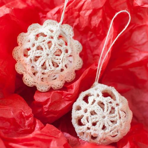 Crochet Christmas Ornaments.Lace Crochet Christmas Ornaments Allfreecrochet Com
