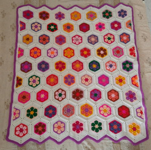 Colourful Flowers Baby Blanket