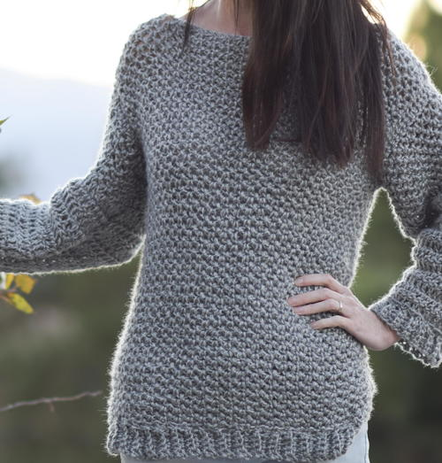 Knit-Like Crochet Sweater
