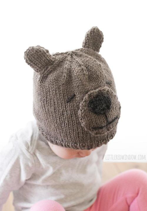 36a3bc0ae Adorable Teddy Bear Knit Hat | AllFreeKnitting.com