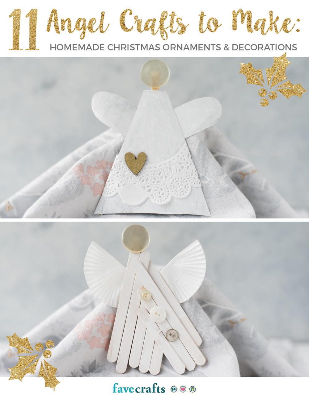 Latest free craft ebooks favecrafts 11 angel crafts to make homemade christmas ornaments decorations fandeluxe Document