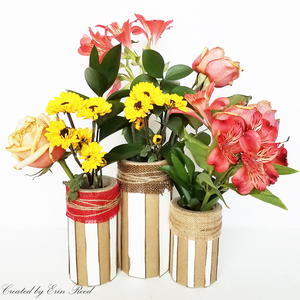 Altered Paper Tube Decor