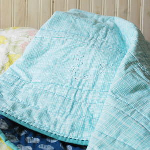 Bitty Beluga Embroidered Whole Cloth Quilt