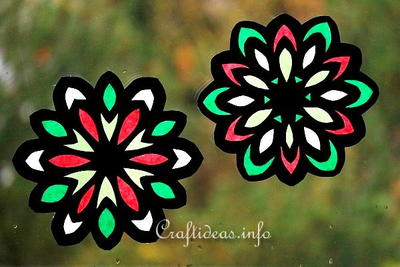 Stunning Stained Glass Paper Snowflakes