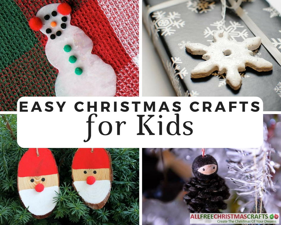 38 really easy christmas crafts for kids for Free christmas crafts for kids