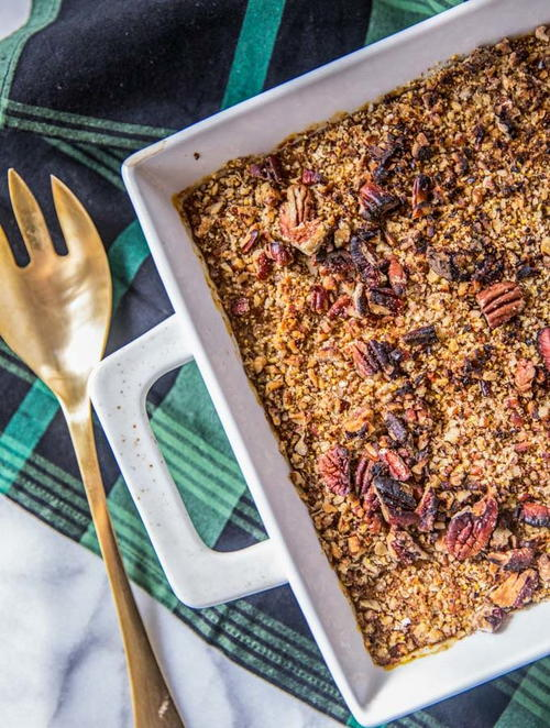 Easy and Healthy Sweet Potato Casserole with Pecans