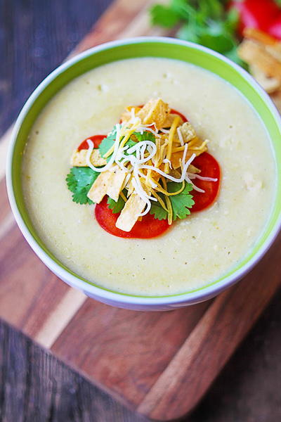 Copycat Chilis Green Enchilada Soup