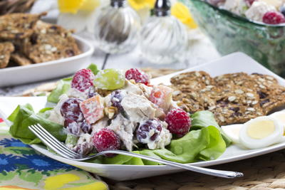 Berry Grape Chicken Salad