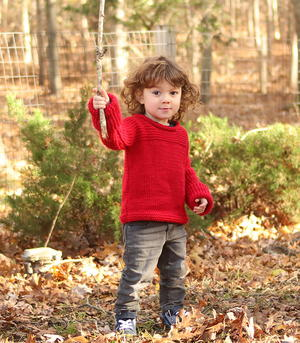 Ruby Red Toddler Sweater