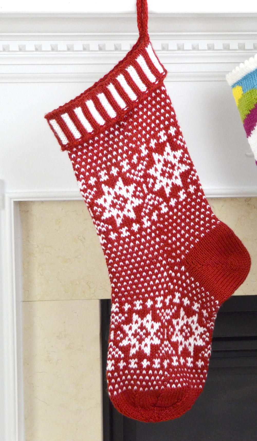 Scandinavian Knit Stocking Pattern