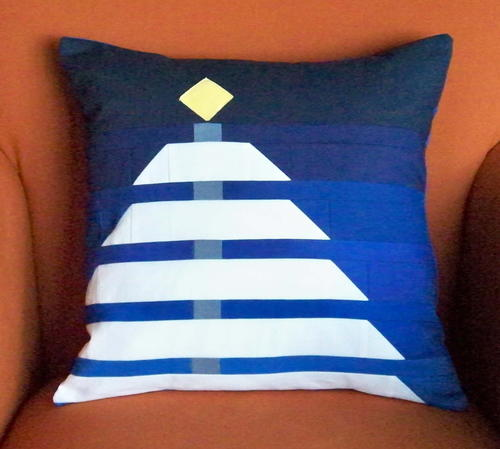 Winter Night Christmas Tree Pillow Cover