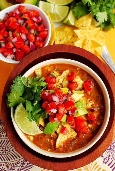 Restaurant-Style Mexican Tortilla Soup