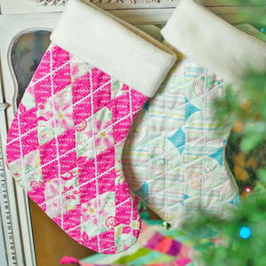 Adorable Argyle Christmas Stocking Pattern
