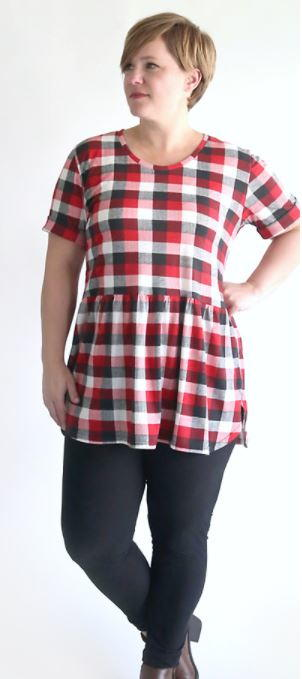 Easy Plaid Peplum Top