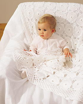 Crochet Lace Baby Blanket Pattern