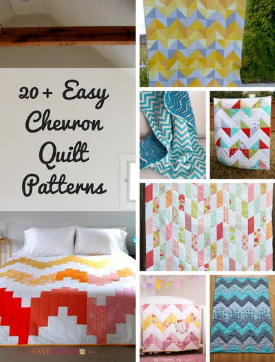 20+ Easy Chevron Quilt Patterns | FaveQuilts com