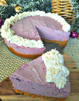 Christmas Cheesecake.Christmas Cheesecake Purple Yam Recipelion Com