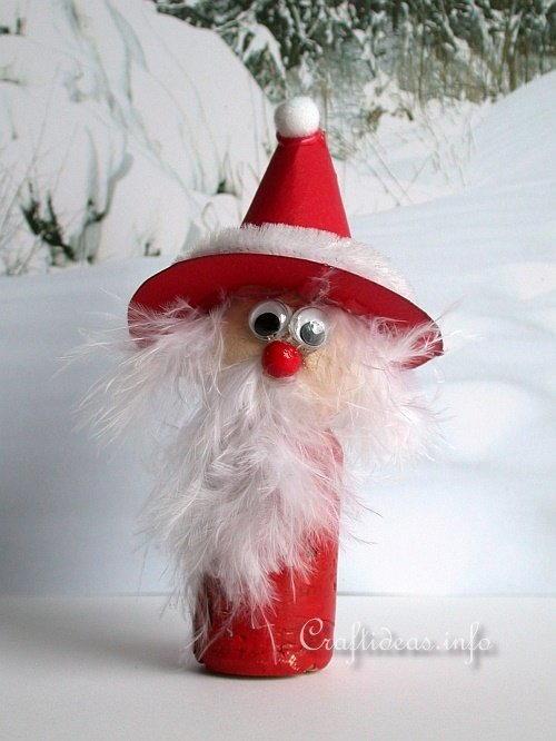Wine Cork Santa Claus