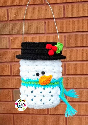 Frosty Snowman Luminary