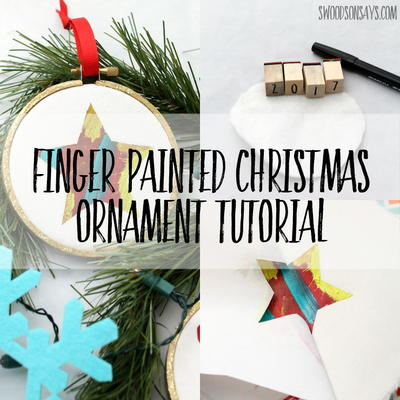 Colorful Finger-Painted Ornament