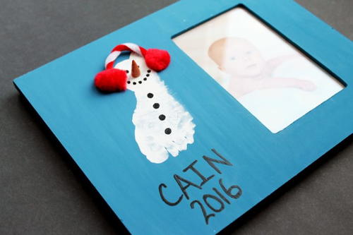 Snowman Baby Photo Frame