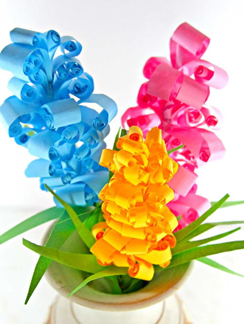 Bright and Colorful Swirly Paper Flowers
