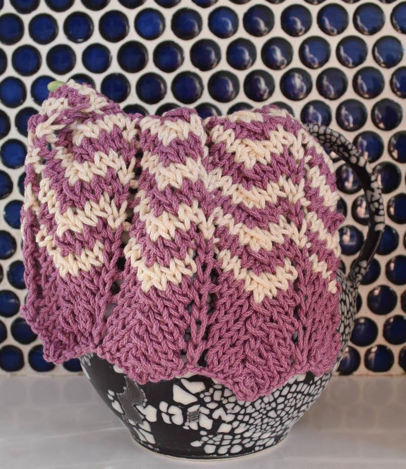 Simple Knit Chevron Dishcloth Allfreeknitting Com