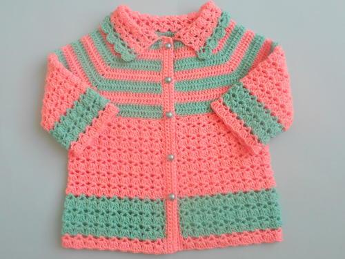 Crochet Baby Sweater Coat Jacket Favecrafts Com