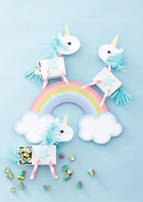Lovely Unicorn Party Favor Craft