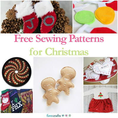 Free Sewing Patterns for Christmas