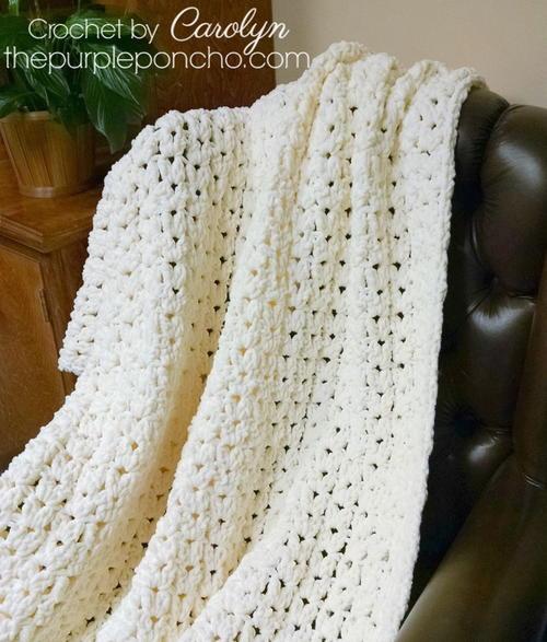 Simple Vintage Blanket Allfreecrochetcom
