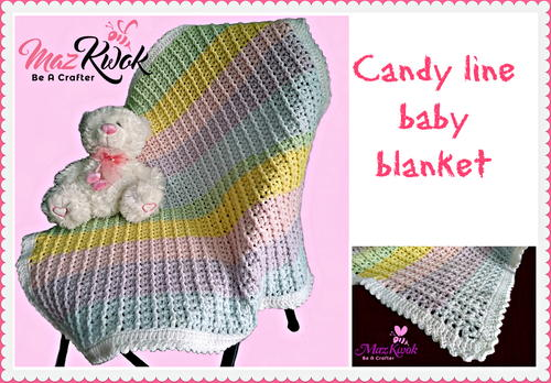 Candy Line Baby Blanket