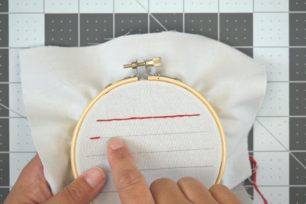 Instructions for Topstitching by Hand - Step 5