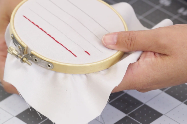 Instructions for Topstitching by Hand - Step 4