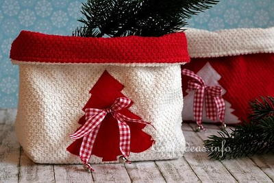 Christmas Terrycloth or Towel Baskets
