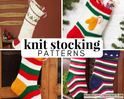 625fe49800c Go traditional this holiday season with these 20 Old-Fashioned Knit Stocking  Patterns. Learn how to knit a Christmas stocking and make them for family  and ...